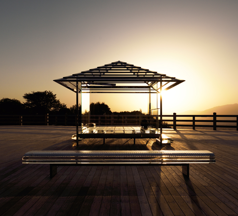 "Tokujin Yoshioka, ""Glass Tea House - KOU-AN"" (2011-) ©Yasutake Kondo"