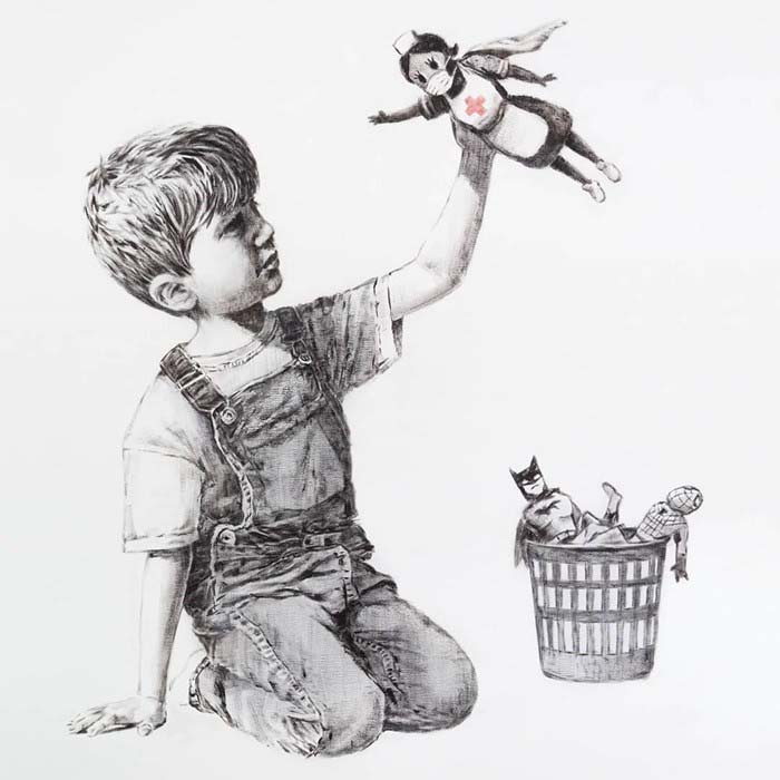 """Banksy, """"Game Changer"""" (2020). Courtesy of the artist."""