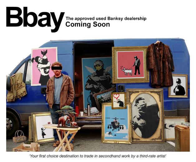 Banksy Gross Domestic annonce l'ouverture prochaine du site Bbay, dédié au marché d'occasion des œuvres de Banksy…
