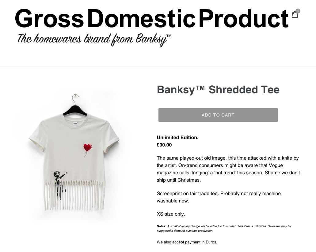 Vue du site Gross Domestic Product.