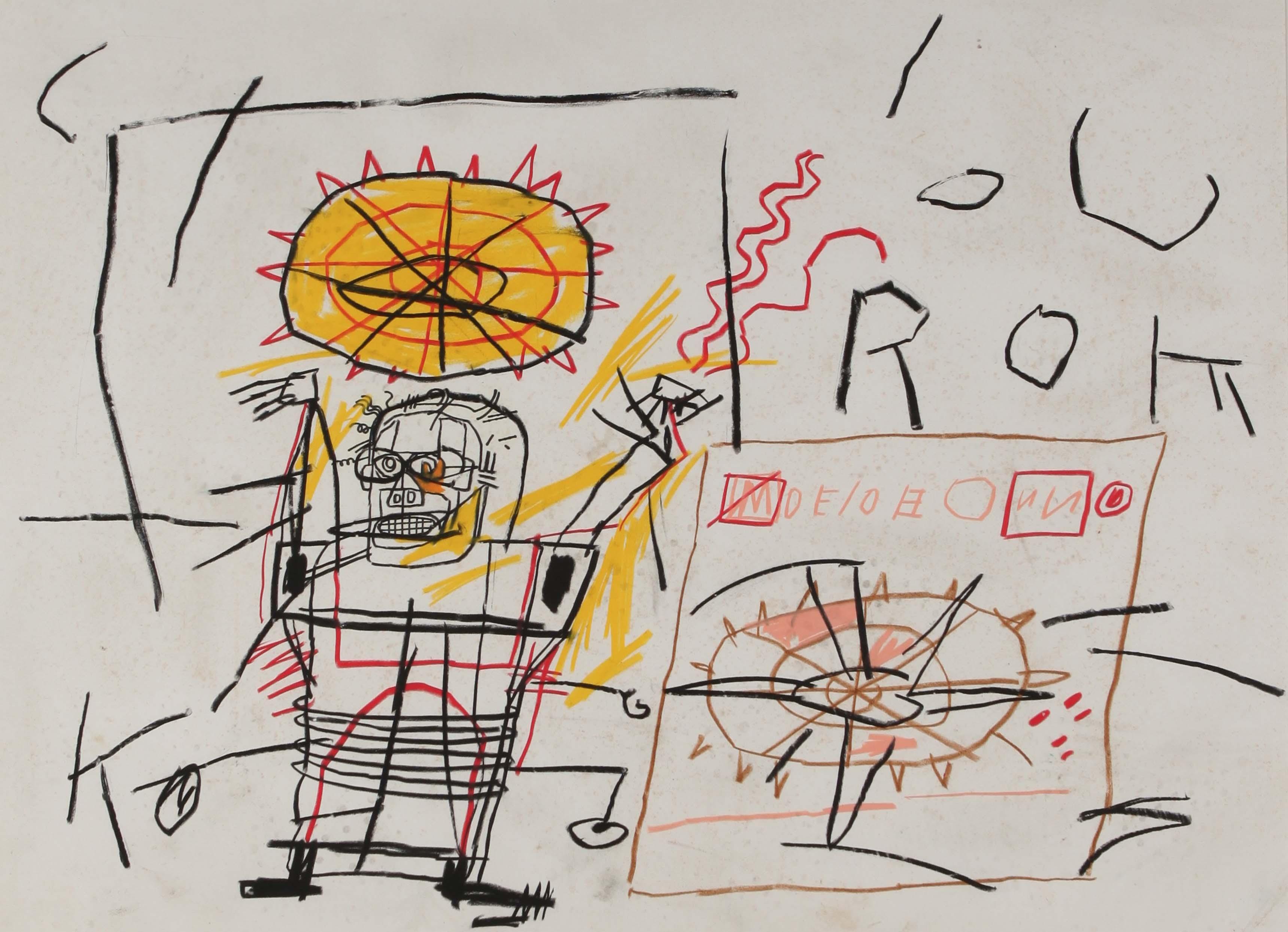 Jean-Michel Basquiat, Untitled, 1982. Crayon et pastel gras sur papier.