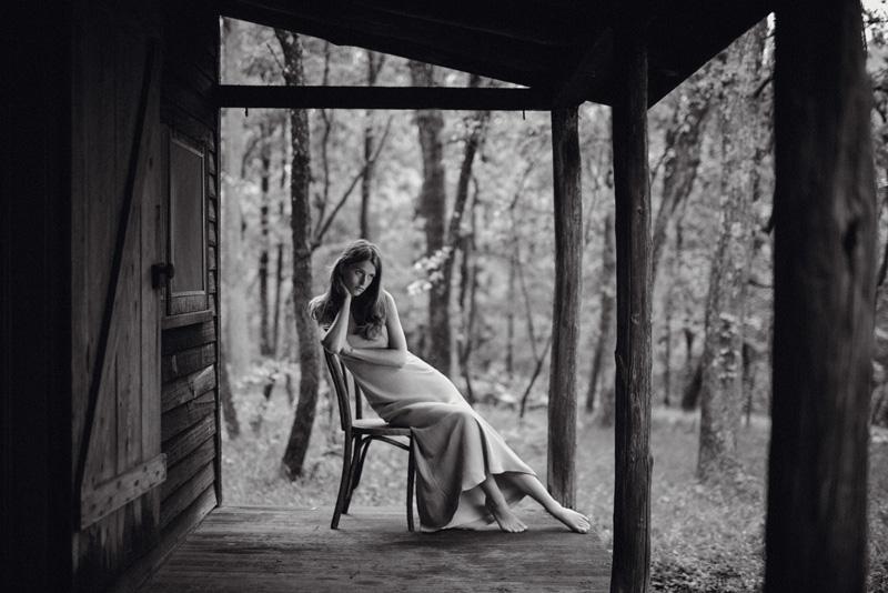 Long silk dress, RALPH LAUREN COLLECTION.