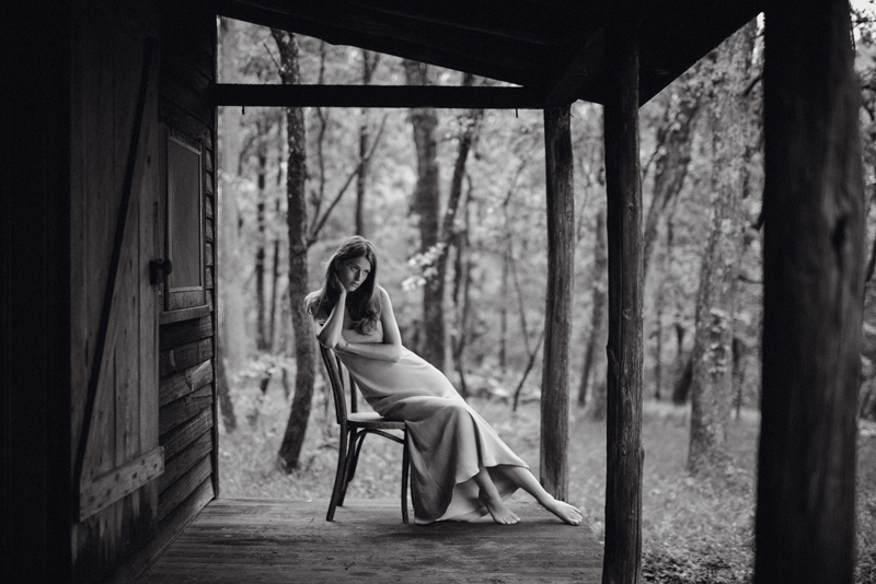 Longue robe en soie, RALPH LAUREN COLLECTION.