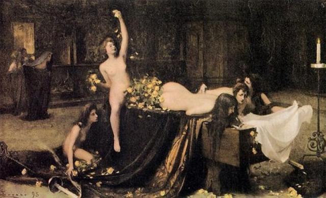 "Giacomo Grosso, ""Supremo convegno"" (1895)."