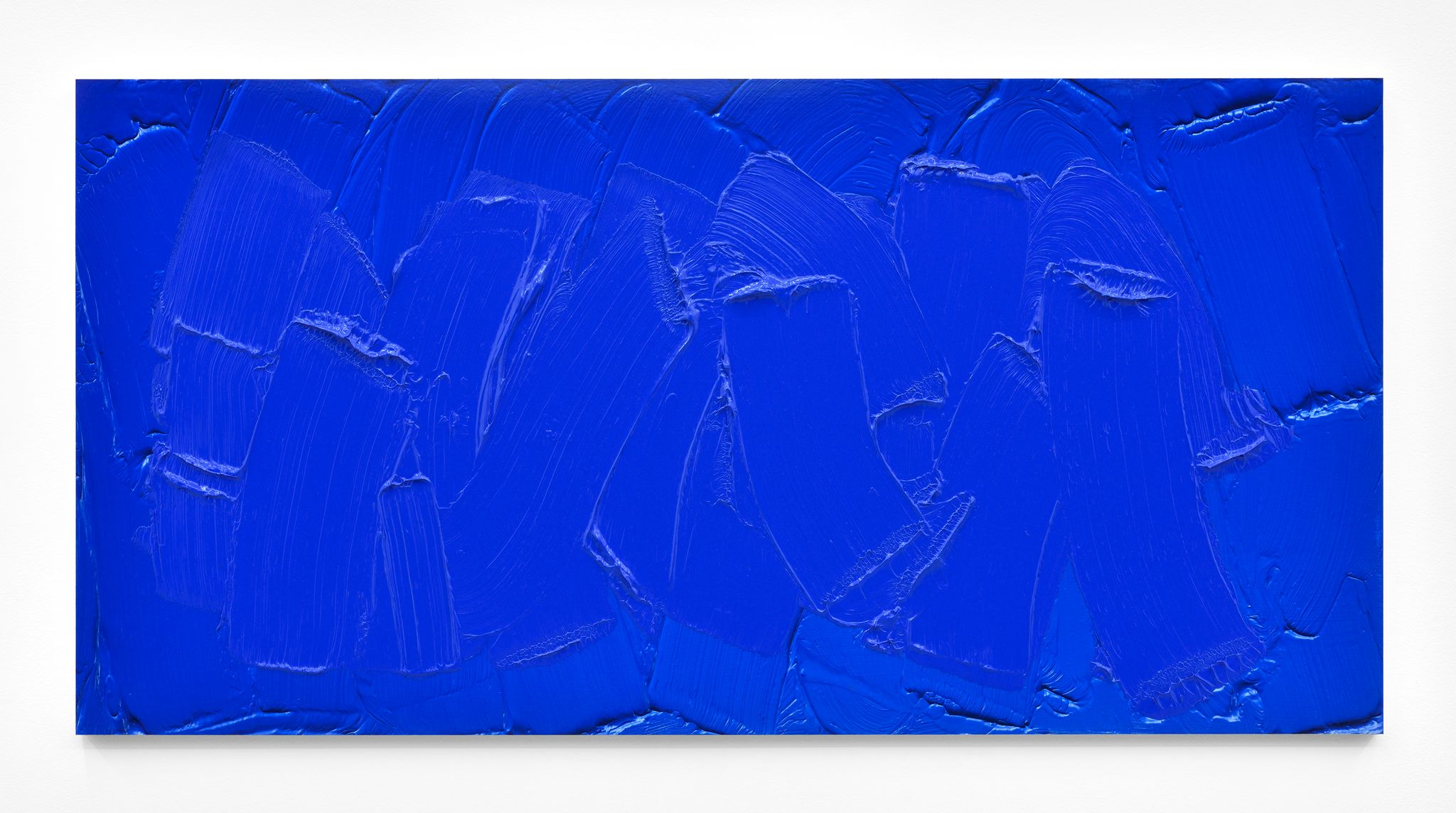 Bertrand Lavier 'Cobalt Blue', 2016. Acrylic on Cibachrome. 59,5 x 120 cm - 23 3/8 x 47 1/4 inches © Bertrand Lavier. Courtesy of the Artist and Almine Rech Gallery. Photo:Rebecca Fanuele
