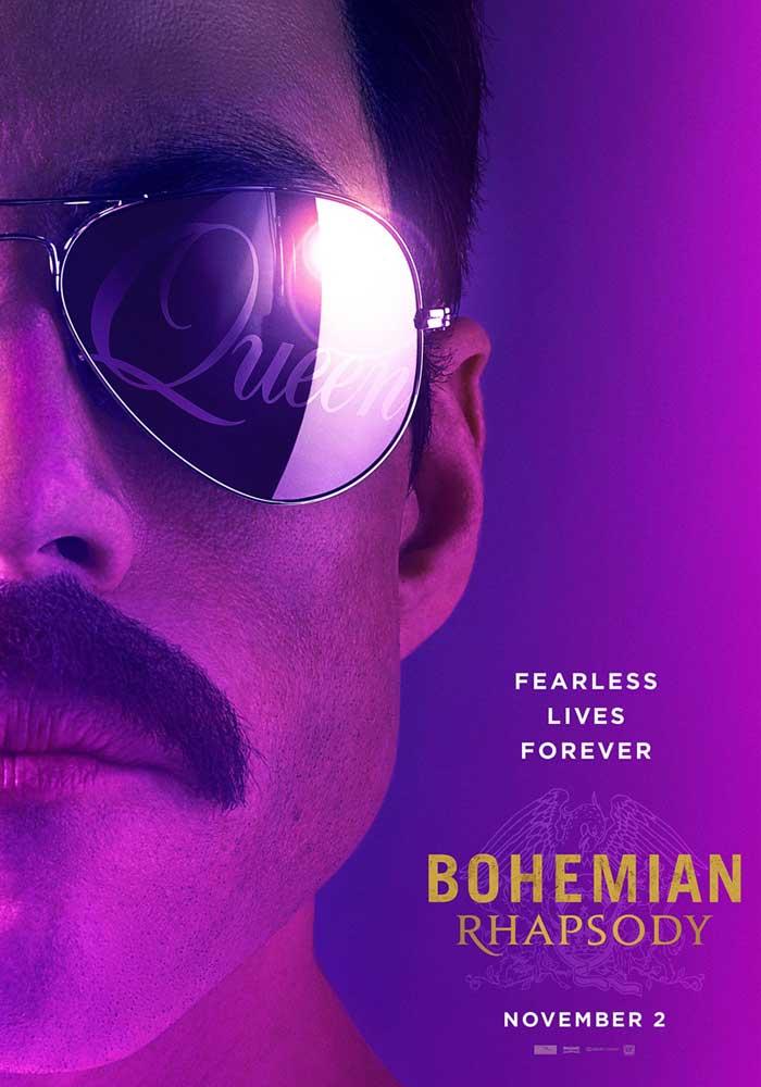 "L'affiche officielle de ""Bohemian Rapsody"", biopic sur Freddie Mercury avec Rami Malek."