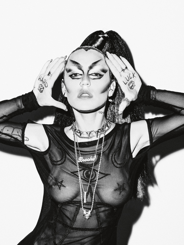Brooke Candy by Nabil for Numéro. Makeup: Stephen Dimmick from Aim Artists. Hairstyle: Gregory Russell for Major Moonshine from The Wall Group. Production: Félix Mondino from Iconoclast.