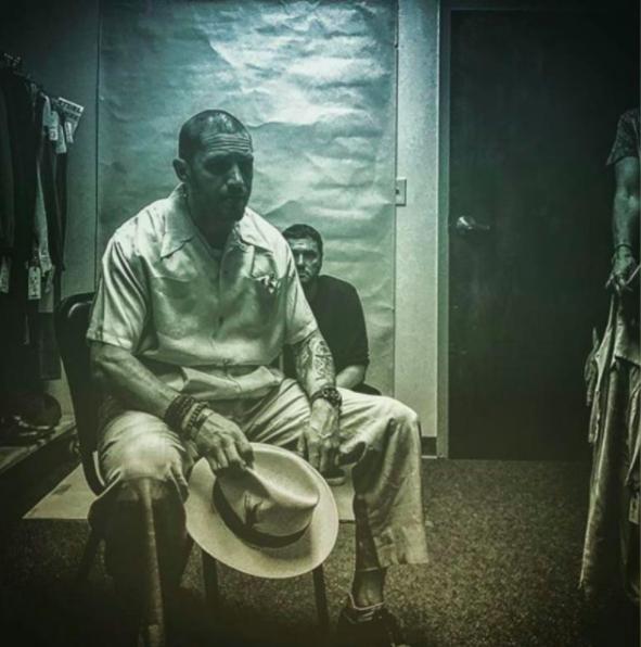 "Tom Hardy en Al Capone sur le tournage de ""Fonzo"" de Josh Trank."