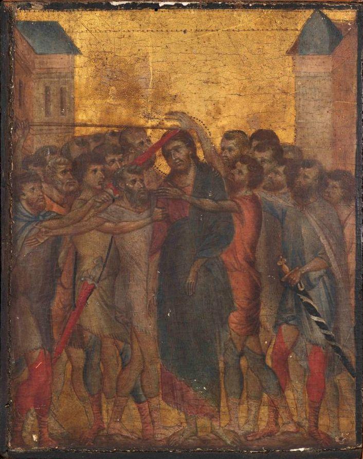 """Cimabue, """"Le Christ Moqué"""" (c. 1280)."""