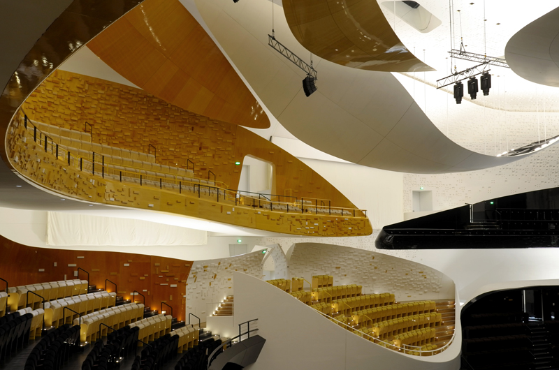 La Philharmonie de Paris imaginée par Jean Nouvel. Photo : Lida Guan.