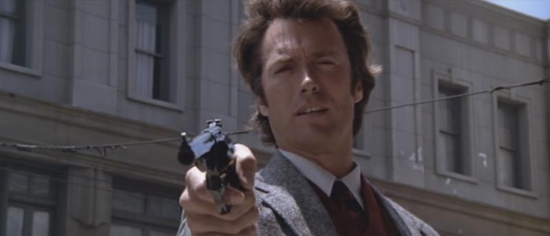 "Clint Eastwood in ""Dirty Harry"" by Don Siegel (1971)"