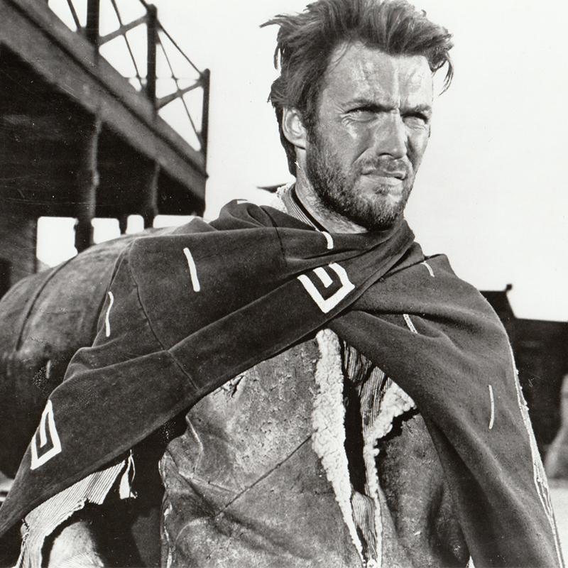 """Clint Eastwood in """"Per un pugno di dollari"""" by Sergio Leone (1966)"""