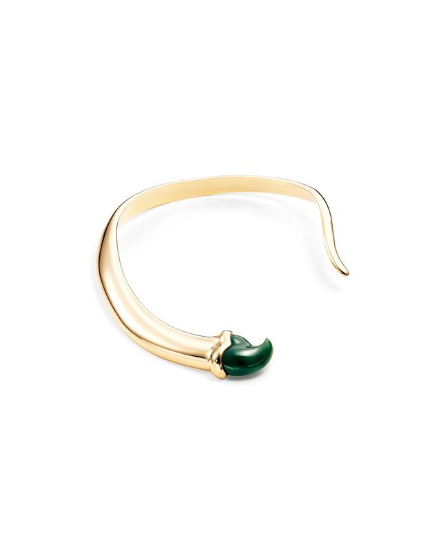 """Collier """"Griffe"""" en or jaune et jade vert, Elsa Peretti pour TIFFANY & CO."""