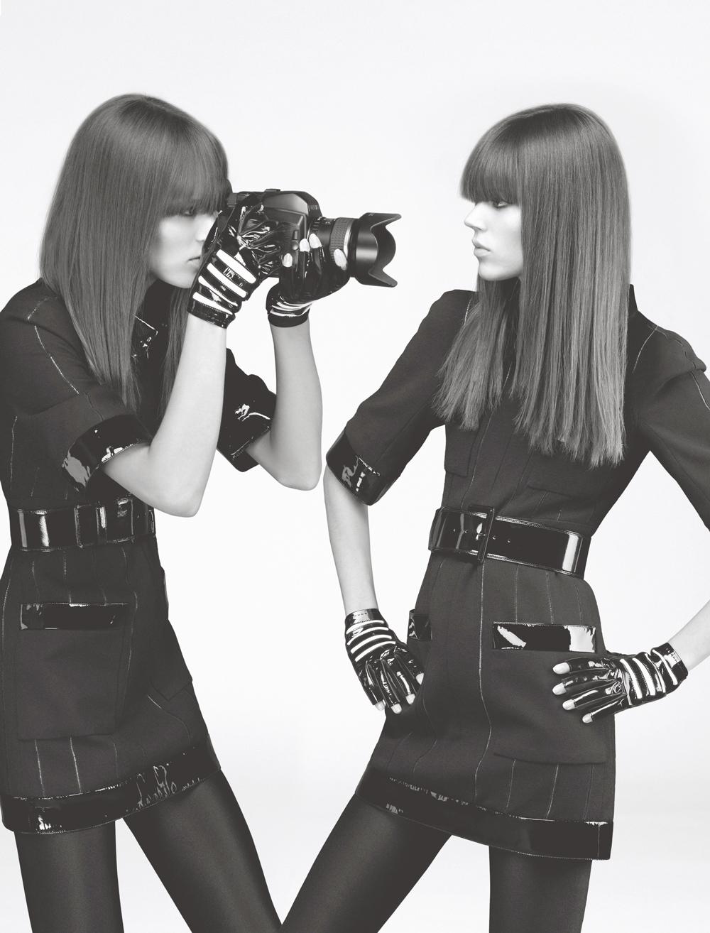 Numéro #81 Mars 2007. Mannequin : Freja Beha Erichsen en Chanel Haute Couture. Make up : Petros Petrohilos. Hair : Odile Gilbert.