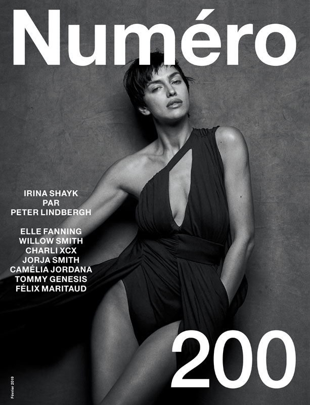 Irina Shayk by Peter Lindbergh and Babeth Djian for the cover of Numéro 200.
