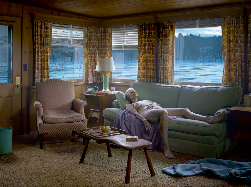 """Reclining Woman on Sofan"", Gregory Crewdson, 2014."