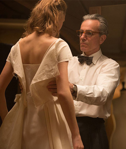 "Daniel Day-Lewis and Vicky Krieps in ""Phantom Thread"" by Paul Thomas Anderson."