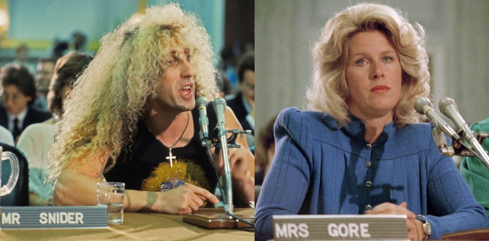 "Daniel Snider et Mary Elisabeth ""Tipper"" Gore en 1985."