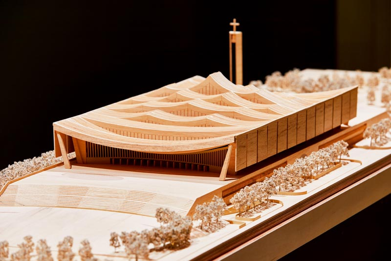 Model for the forthcoming Ghana National Cathedral by David Adjaye. Photo Ed Reeve.
