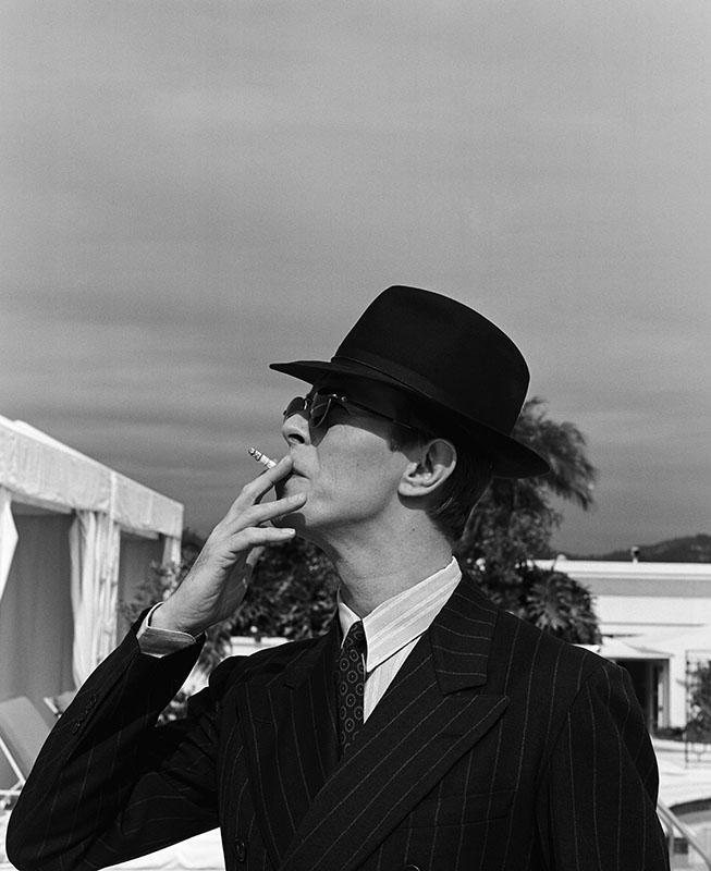 David Bowie à Los Angeles en 1993 par Michel Haddi.