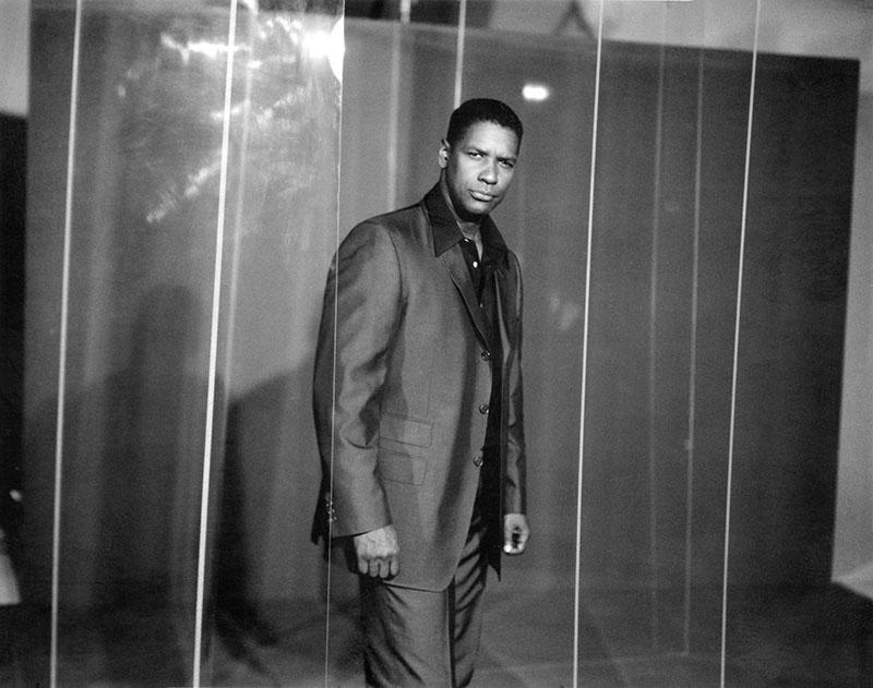 Denzel Washington à Los Angeles en 1991 par Michel Haddi.