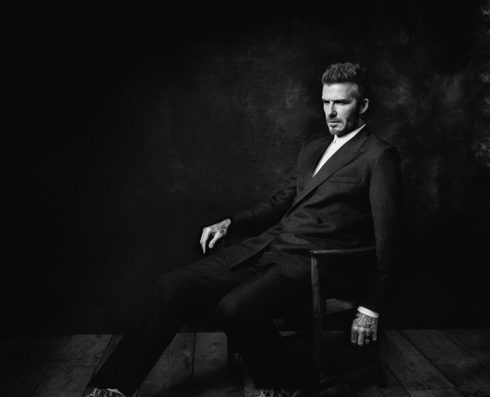 """David Beckham by Nikolai von Bismarck in """"The Dior Sessions""""."""