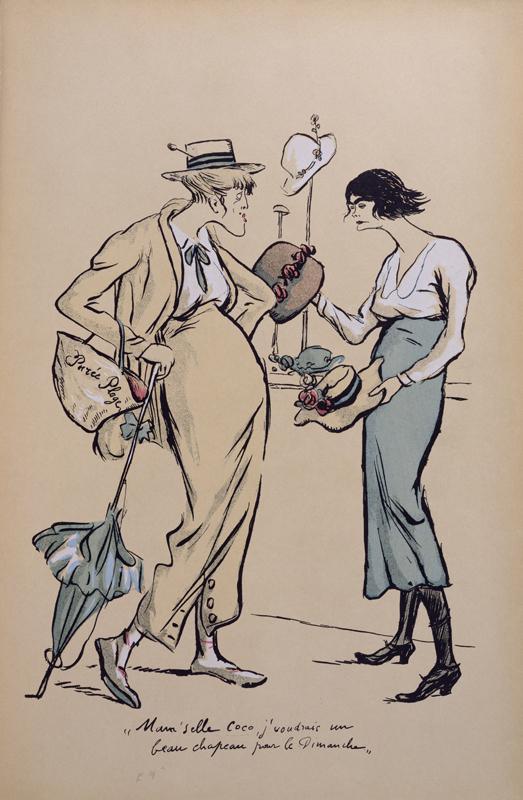 Coco Chanel croquée par le caricaturiste Sem.