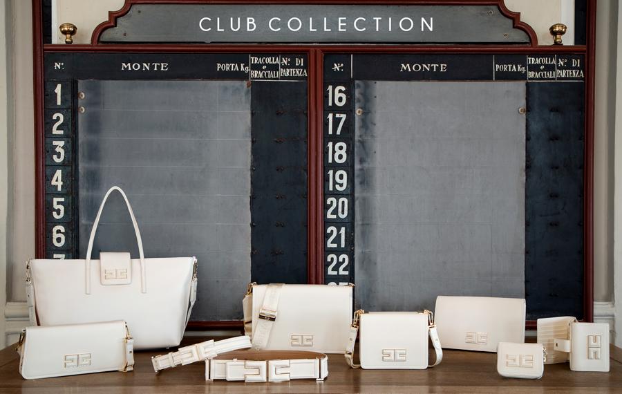 """La nouvelle ligne de maroquinerie sans cuir """"Club Collection"""" d'Elisabetta Franchi"""