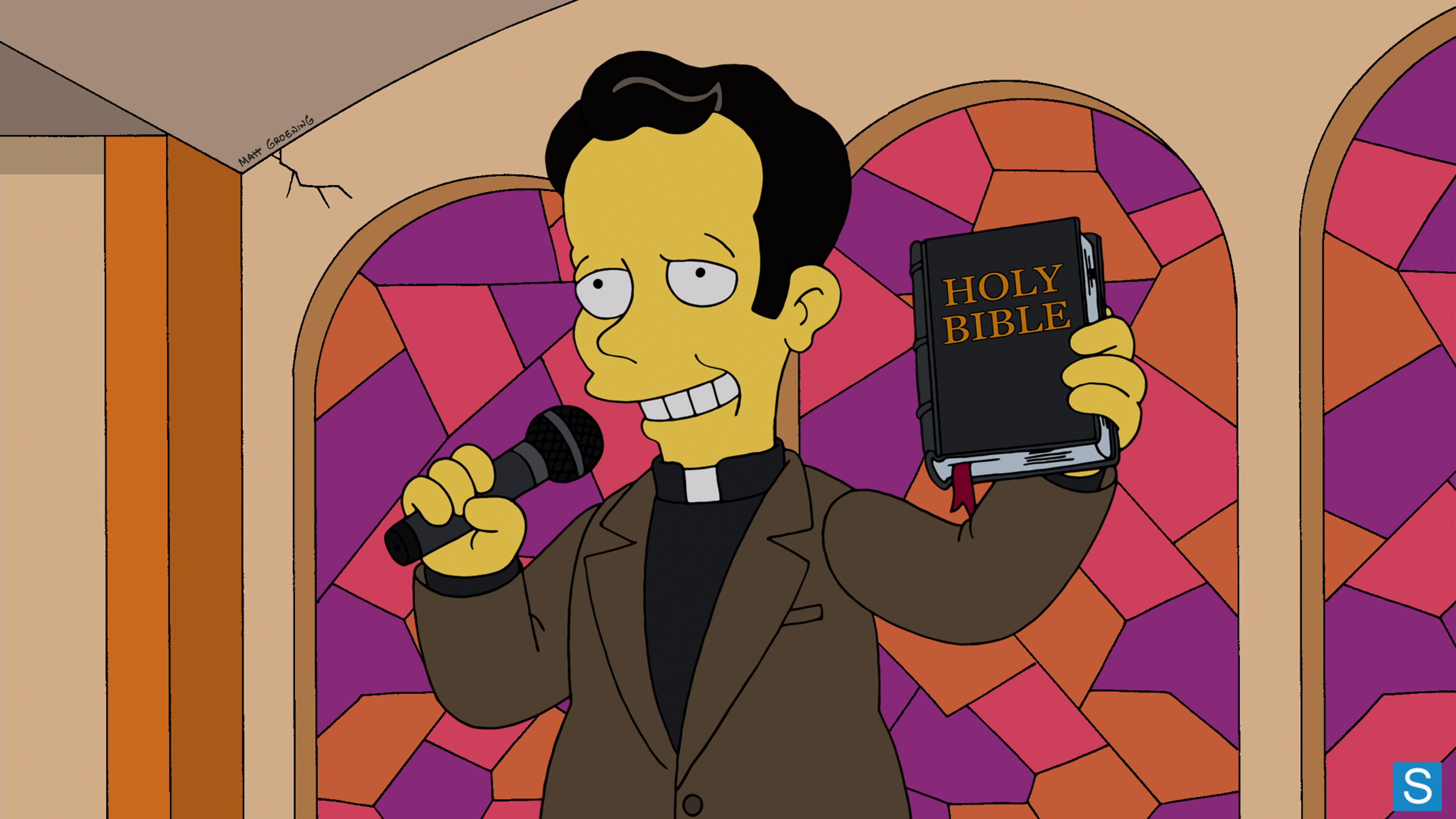 """Edward Norton dans l'épisode """"Pulpit Friction"""" (2013) des Simpson"""