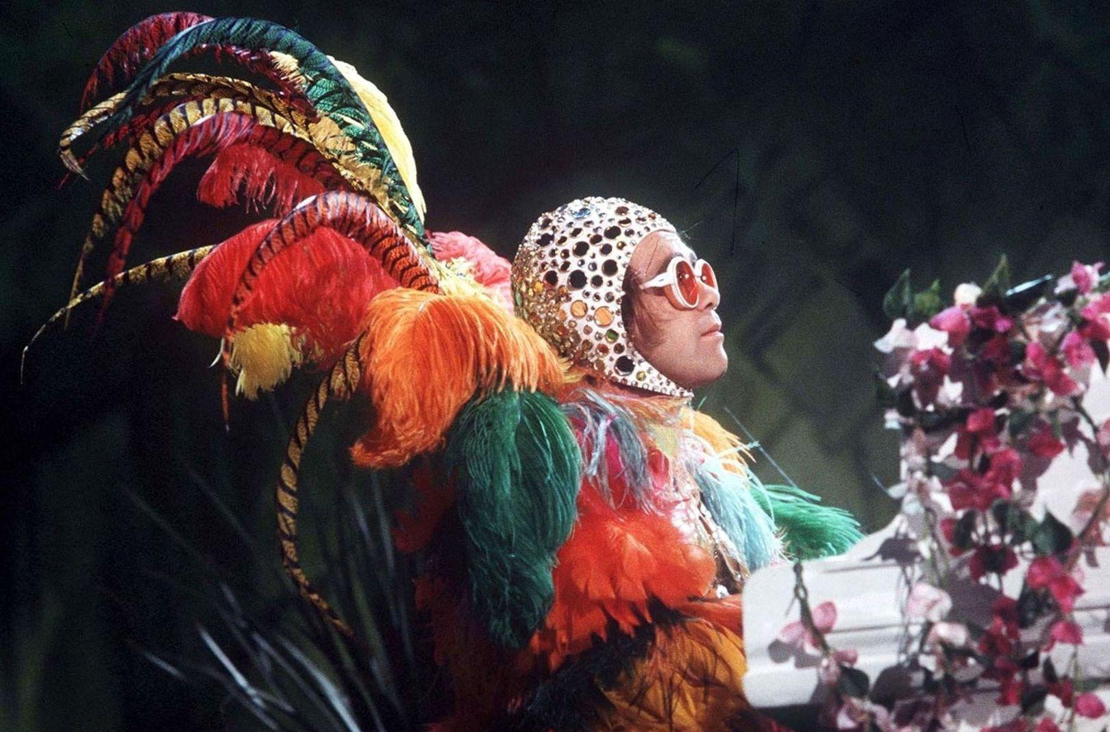 "Elton John au ""Muppet Show"" en juin 1977, David Dagley"