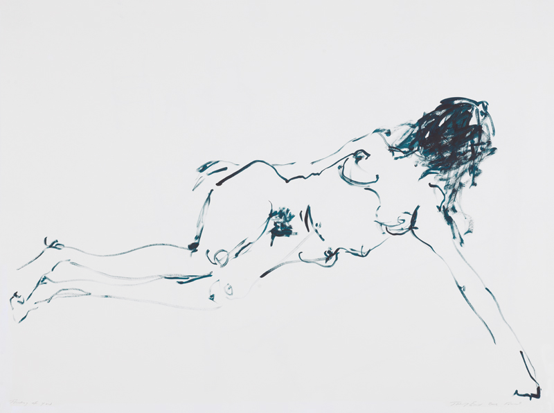 """Thinking of You"" (2012) de Tracey Emin. Gouache sur papier, 101,5 x 137 cm. Courtesy of the artist and Xavier Hufkens, Brussels"