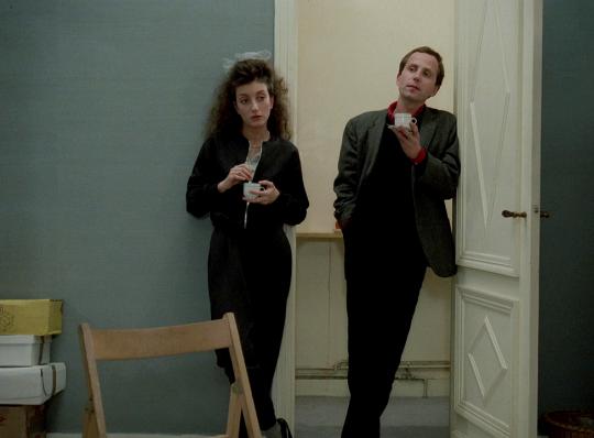 """Pascale Ogier et Fabrice Lucchini dans """"Les Nuits de la Pleine Lune"""",1984"""