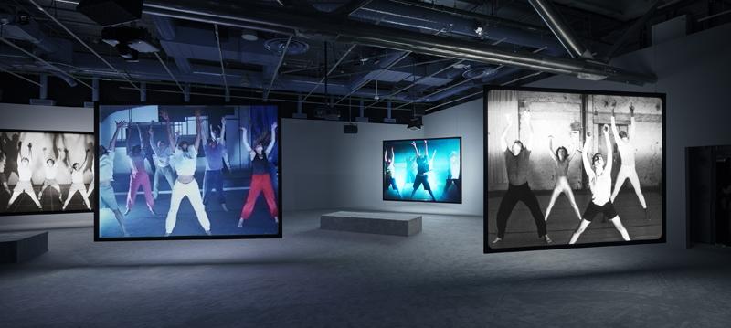 """Jeremy Shaw, """"Phase Shifting Index"""", vue de l'exposition au Centre Pompidou, Paris (2020). Photo : Timo Ohler"""