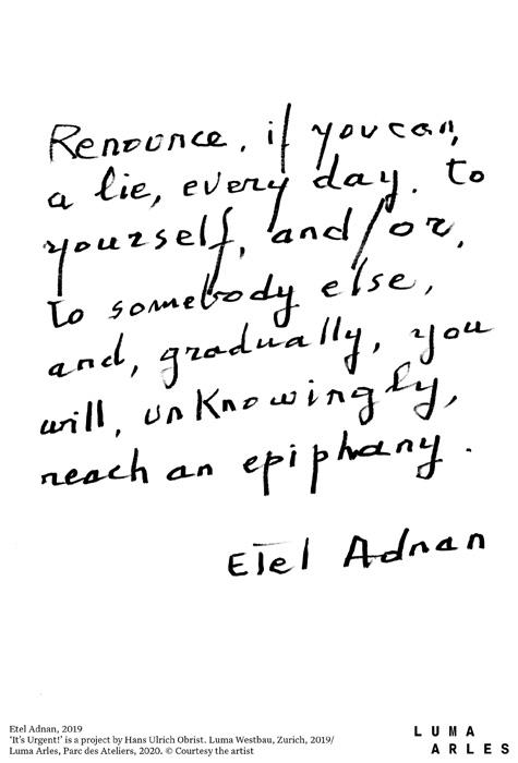 Poème d'Etel Adnan.