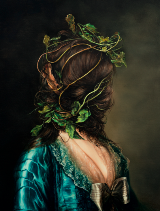 """Untitled"" (After Alexander Roslin) [2018]. Huile sur toile, 80 x 60 cm."