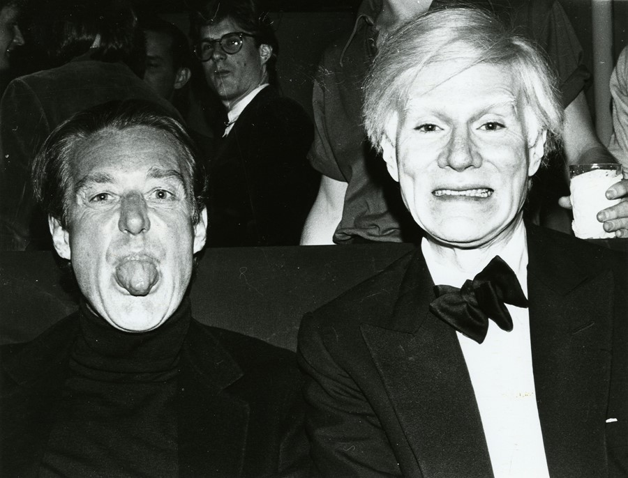Halston et Andy Warhol, 1979 Courtesy of The Andy Warhol Museum