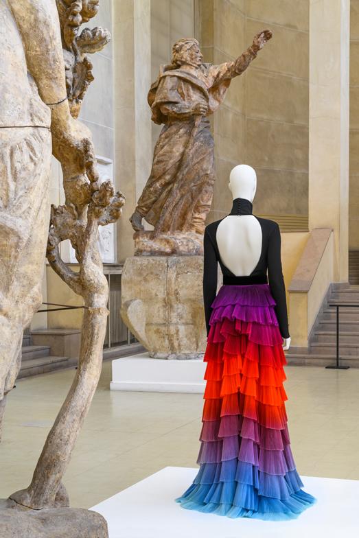 """Givenchy par Clare Waight Keller, """"Thaïs"""", body, jupe et ceinture portées par Cate Blanchett, haute couture printemps-été 2018. © Paris Musées / Pierre Antoine"""