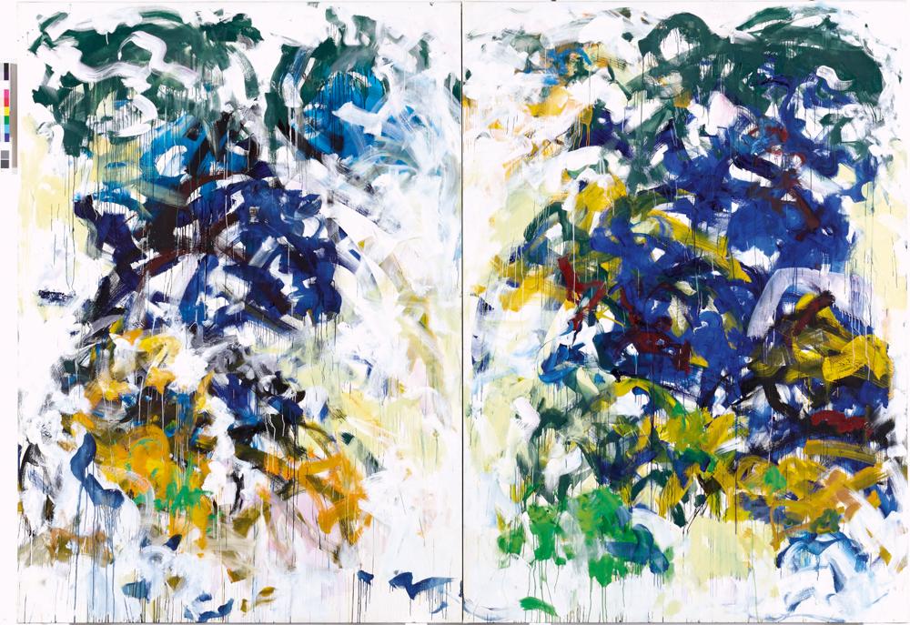 """""""Beauvais"""" (1986) de Joan Mitchell. Huile sur toile, 280 x 401 cm."""