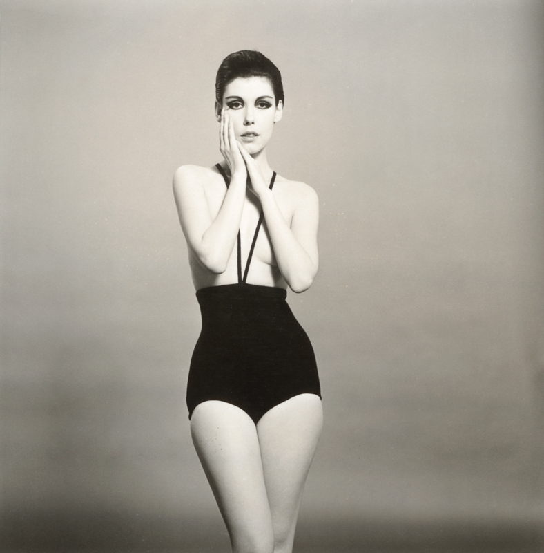 """""""Peggy Moffitt modeling the topless swimsuit designed by Rudi Gernreich"""" (1964). Photograph © William Claxton, LLC, courtesy of Demont Photo Management & Fahey/Klein Gallery Management Los Angeles, with permission of the Rudi Gernreich trademark."""