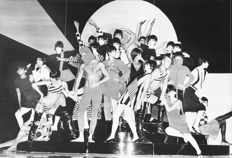 """""""Rudi Gernreich fashions at the Wiltern"""" (1985). Photo Collection, Los Angeles Public Library."""