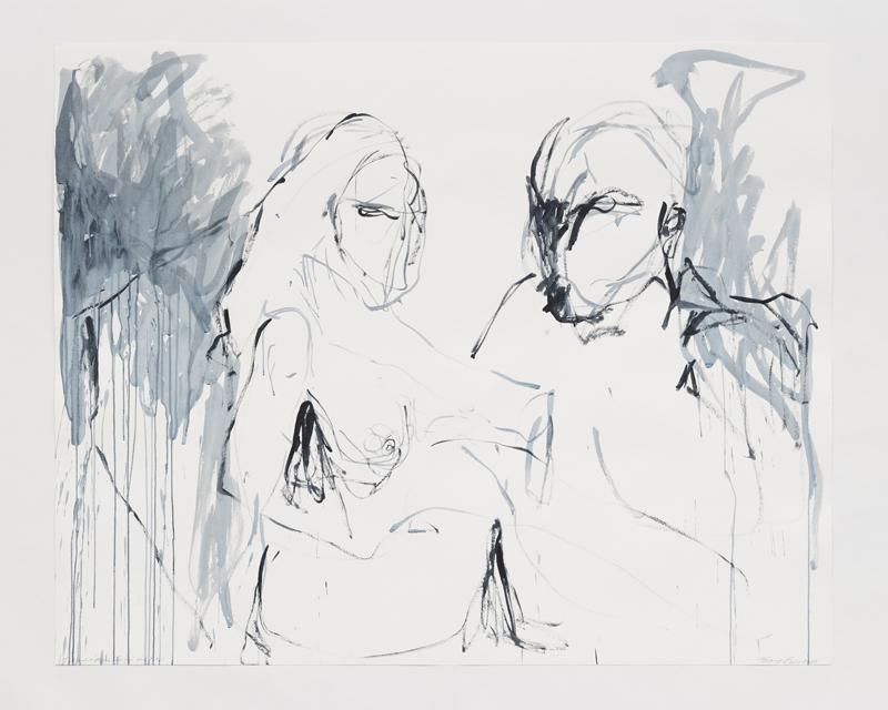 """Tracey Emin, """"I created time For you and me"""" (2018). Acrylique sur papier, 121,6 x 151,5 cm © Tracey Emin. Droits réservés, Courtesy White Cube, Adagp, Paris, 2019"""