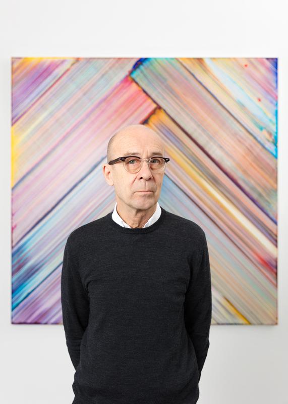 Portrait de Bernard Frize. Photo: Claire Dorn