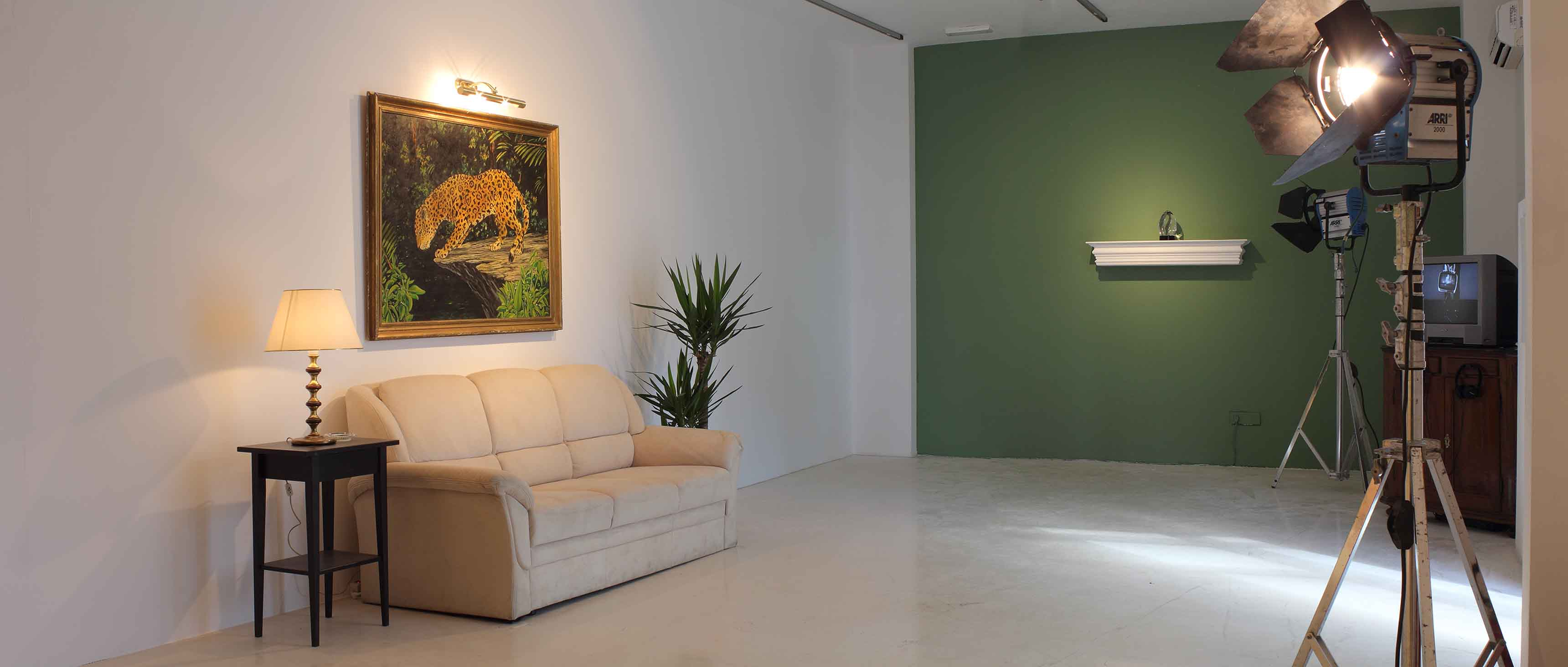 FADE IN 2: EXT. MODERNIST HOME — NIGHT - Installation view