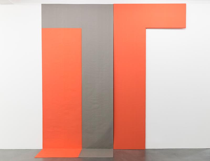 Wartet Auf Entwicklung, 1981 (executed 2018), cotton, wood, two parts, 1/2 : 275 x 135 x 30 cm, 2/2 275 x x145 x 30 cm. Ins. # FEW/S 289 unique