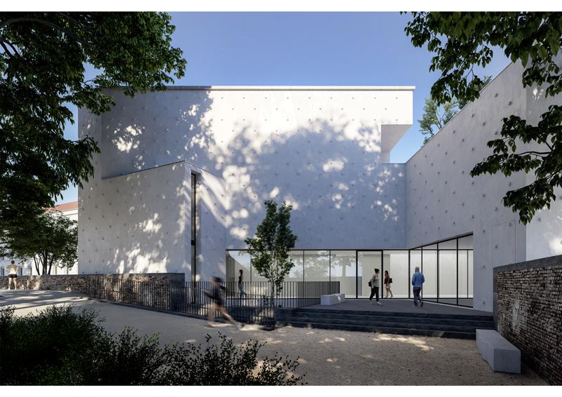 Etude pour une galerie d'art, Nancy (54), Ludovic Zacchi architecte © Perspective Ilulissä Images