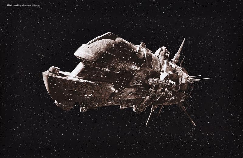 Gilles Barbier. HMS Hawking de classe Neptune 2017. Gouache sur papier / Gouache on paper 123 x 189 cm / 48 3/8 x 74 3/8 in. Pièce unique / Unique piece Courtesy Galerie GP & N Vallois, Paris / Photo : JC Lett.