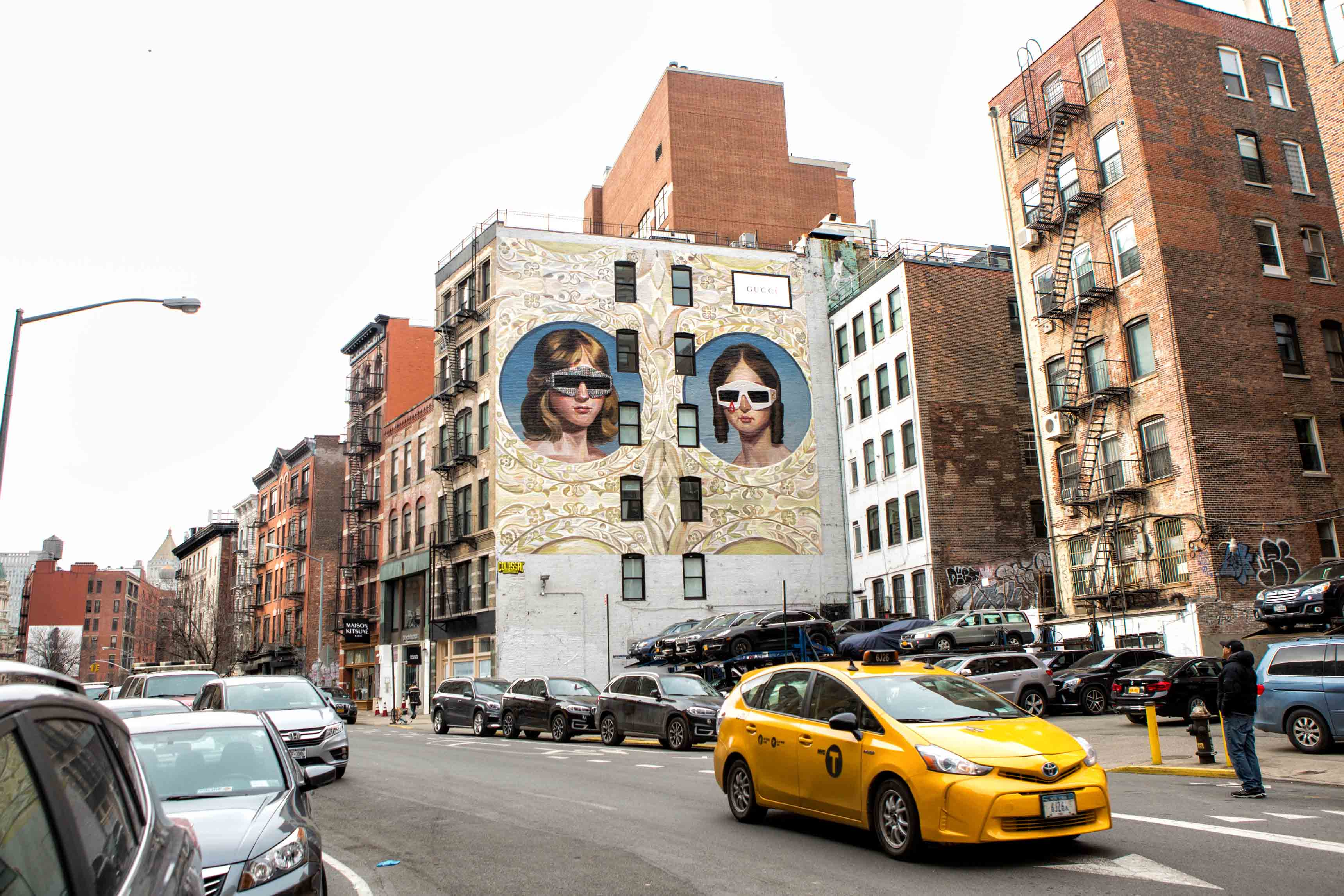Art wall, Gucci, New York