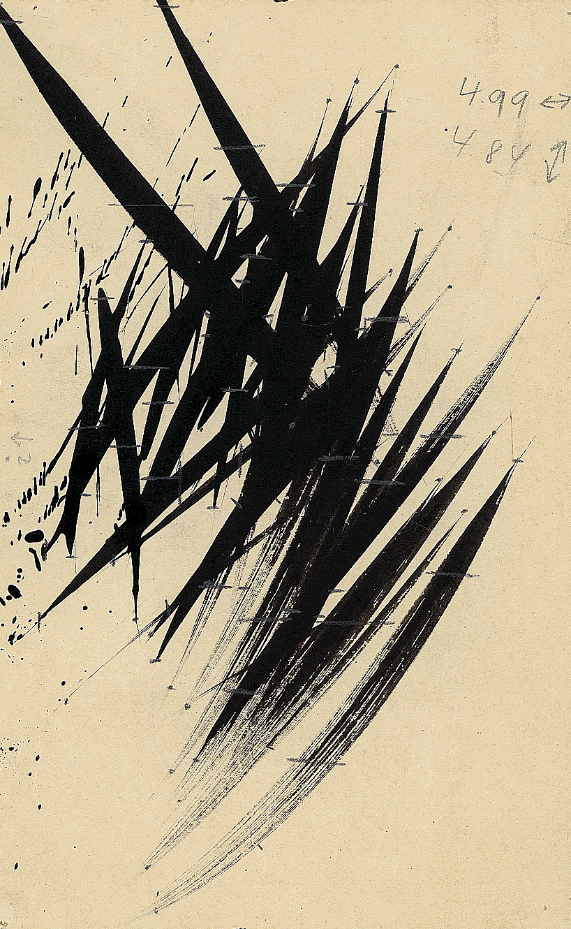 Hans Hartung, Sans titre, 1955