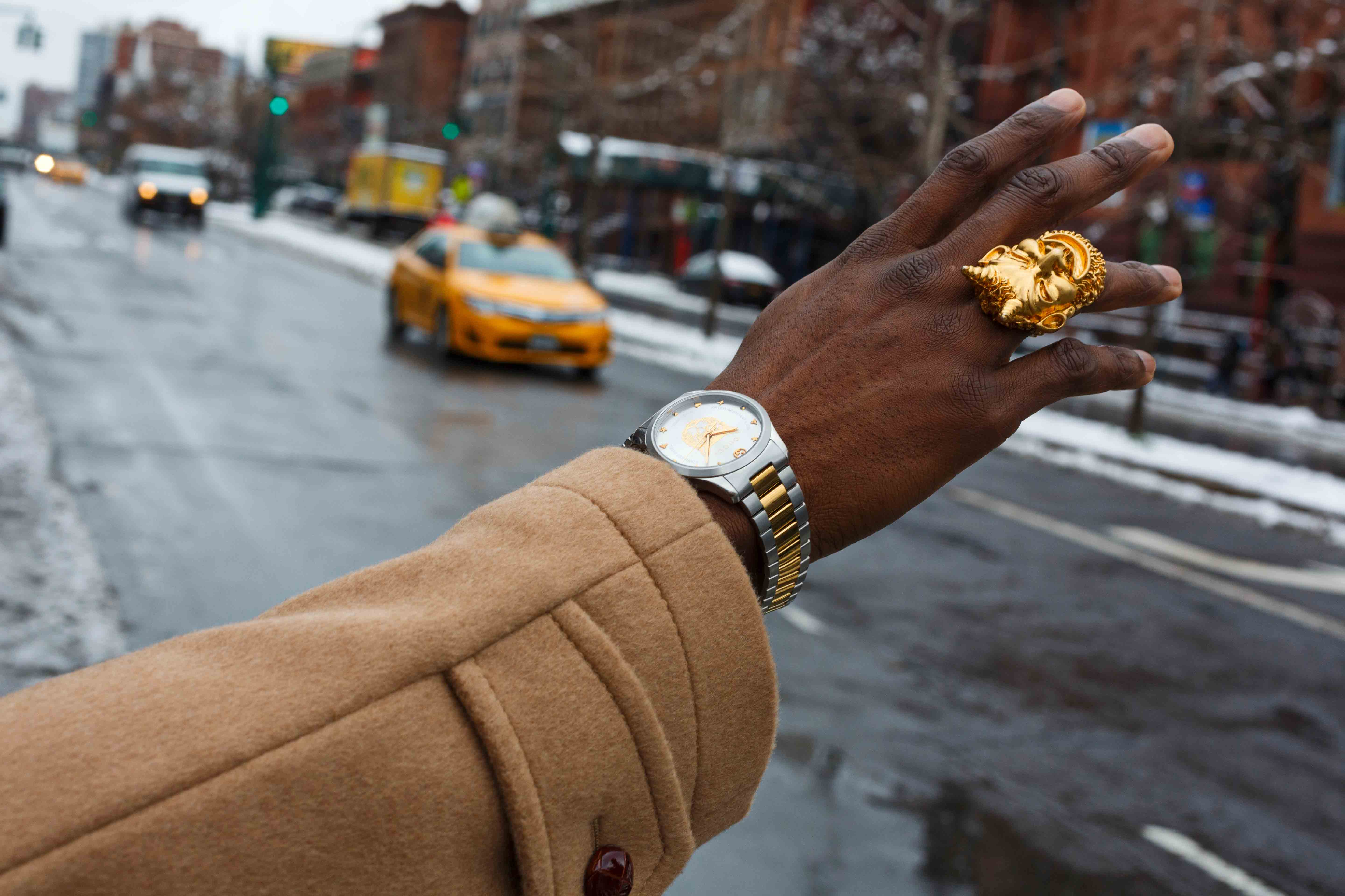 Visual from the new Gucci campaign, #TimeToParr photographed by Martin Parr. In Harlem, near the Dapper Dan atelier.