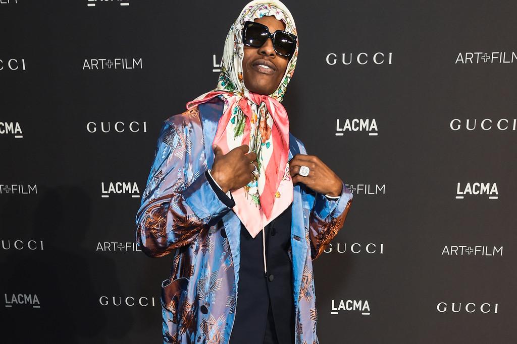 A$AP Rocky au LACMA à Los Angeles.